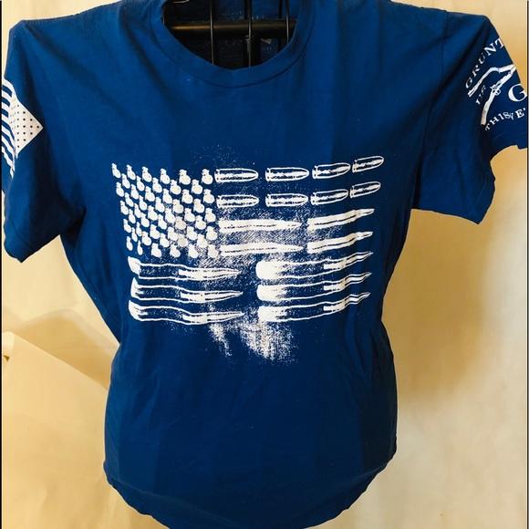 bd8e44874 grunt style Shirts | Bullet Flag Tee | Poshmark